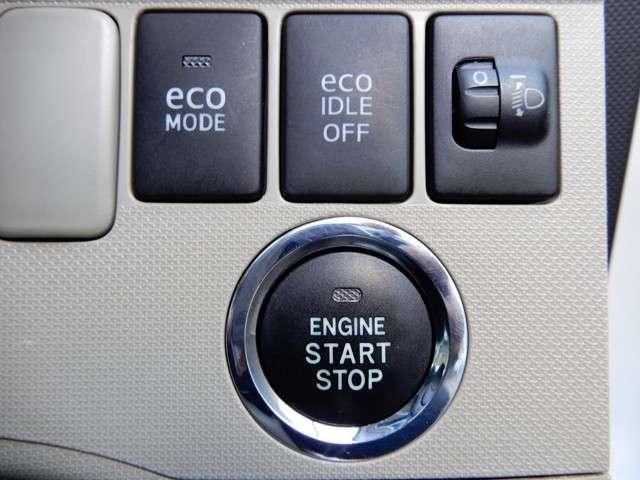 エコアイドル&エコモード装着&プッシュスタート装備!!鍵はカバンにいれておくだけでエンジン始動から扉の開閉までワンプッシュです!!