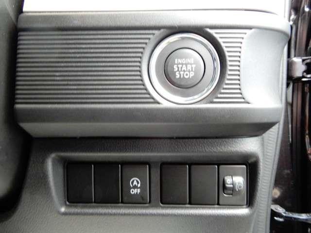 キーフリー、プッシュスタート&アイドリングストップ装備!!鍵はカバンに入れておくだけでエンジンスタートストップから鍵の開け閉めまでOKです!!
